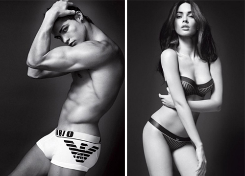 Cristiano Ronaldo and Megan Fox strip down for new Armani Ad Videos