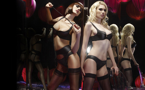 Lingerie pleasure with Agent Provocateur