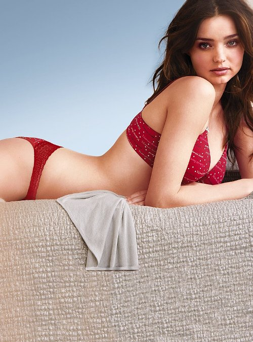 Miranda Kerr Victoria's Secret Holiday 2010 Lingerie Photoshoot