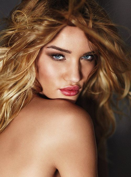 Rosie Huntington Whiteley in Victoria's Secret Catalogue Photoshoot