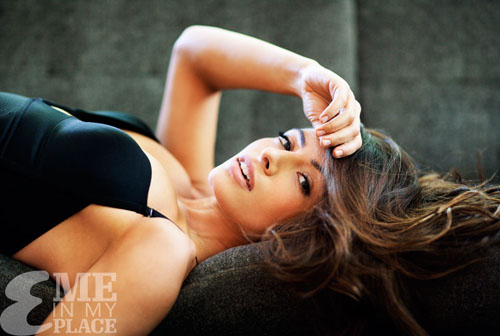 Sarah Shahi in Underwear for Esquire