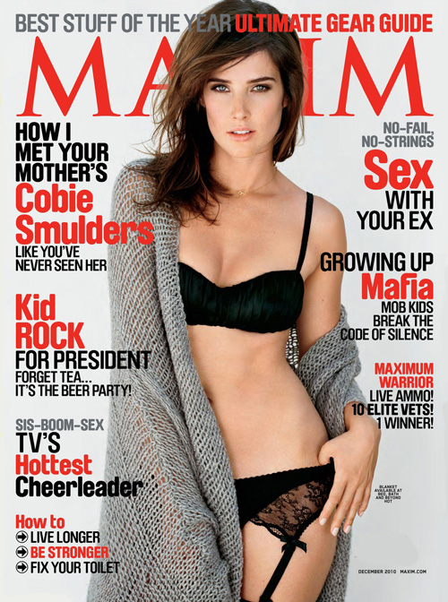 Sexy Cobie Smulders covers Maxim (December 2010)