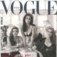 Vogue Italia Battles Against Anorexia with Plus-Size Models Cover