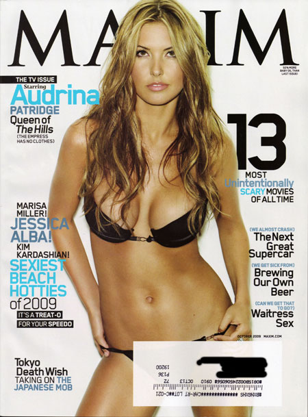 audrina patridge maxim october 2009