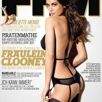 Elisabetta Canalis is black lingerie hot in FHM