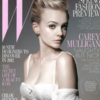 Carey Mulligan Wears Bra On W Magazine Cover