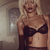 Rihanna In Lacy Lingerie For Elle Magazine