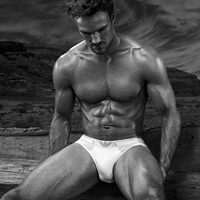 Kelly Brooks Boyfriend Thom Evans Models Underwear