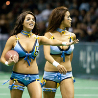 Beauty in the Sport: Football in Lingerie